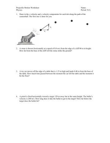 Worksheet Projectile Motion Worksheet projectile motion worksheet physics intrepidpath two dimensional 1 section 3 2 how are vectors