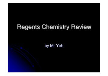 Chemistry Review Nuclear Chemistry