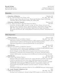 resume - David Grant