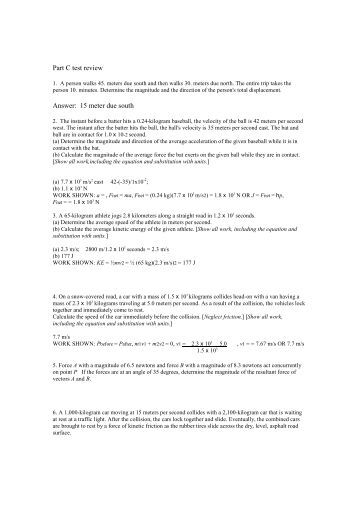 high school physics questions and answers pdf