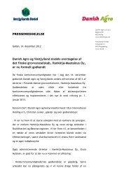 Danish Agro og Vestjylland Andels overtagelse af det ... - DLA Group