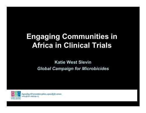 Engaging Communities in Africa in Clinical Trials