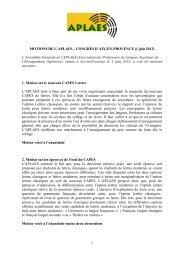 Texte des motions au format PDF - APLAES