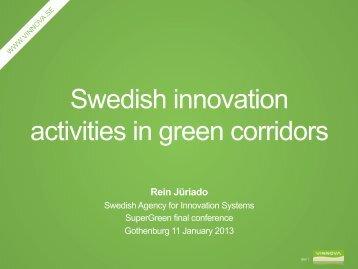 Swedish innovation activities in green corridors - SuperGreen Project