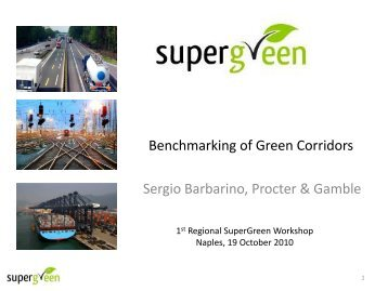 Benchmarking of green corridors - SuperGreen Project