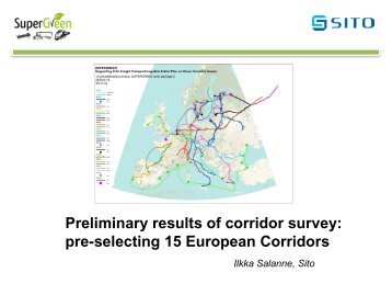 Preliminary results of corridor survey - SuperGreen Project