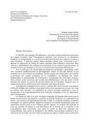 Lettre à Mme S. Béjean, présidente de la Commission ... - APLAES