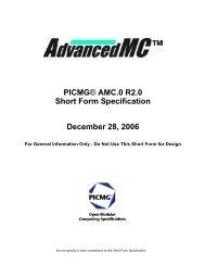 PICMG® AMC.0 R2.0 Short Form Specification December 28, 2006