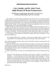 Gary Smalley and Dr. John Trent: Right-Brain/Left Brain ...