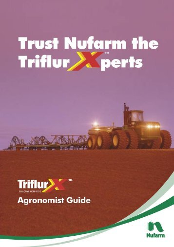 TriflurX Agronomist Guide - Pest Genie
