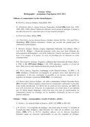 Sénèque- Œdipe. Bibliographie – programme d ... - APLAES