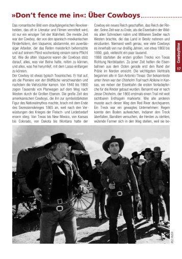 Don't fence me in«: Über Cowboys - Münchner Stadtmuseum