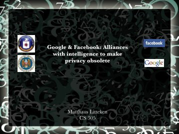Google & Facebook: Alliances with intelligence to make privacy ...