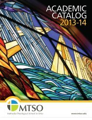 Academic Catalog - Methodist Theological School in Ohio