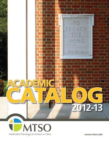 ACADEMIC 2012-13 - Methodist Theological School in Ohio