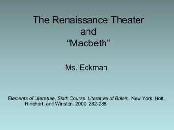The Renaissance Theater.pdf - Eckman-English12