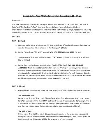 Characterization Paper CP and Honors.pdf - Eckman-English12