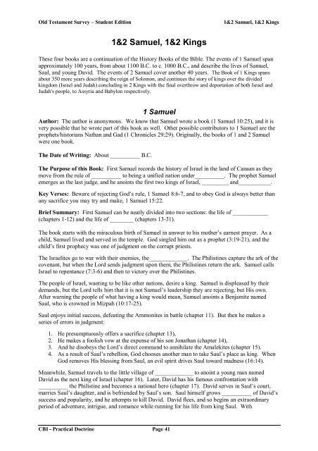 Old Testament Survey - Student 5 pdf