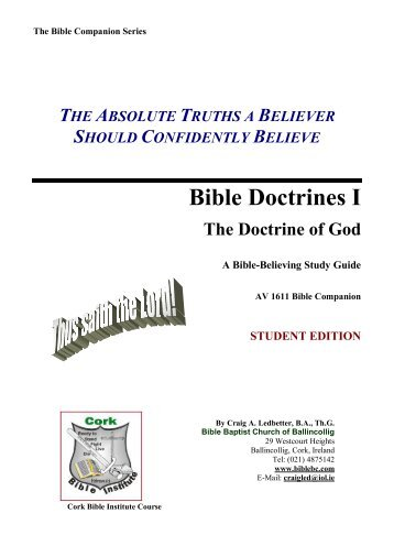 The Doctrine of God - Bible Baptist Church