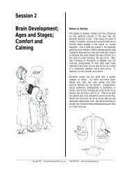 Session 2 Brain Development; Ages and Stages - Nurturing Parenting