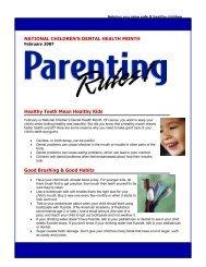 NATIONAL CHILDREN'S DENTAL HEALTH MONTH Healthy Teeth ...