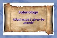 Notes on Soteriology - Grace Family Baptist Church