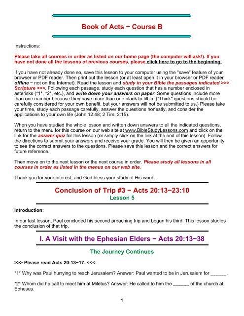 PDF- #5 - Bible Study Lessons