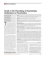 Trends in the Prescribing of Psychotropic Medications to Preschoolers