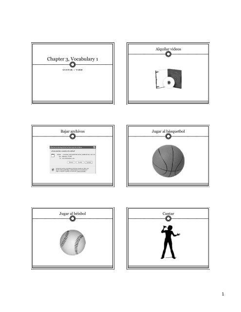 Chapter 3 Vocabulary 1.pptx - Hamilton Spanish