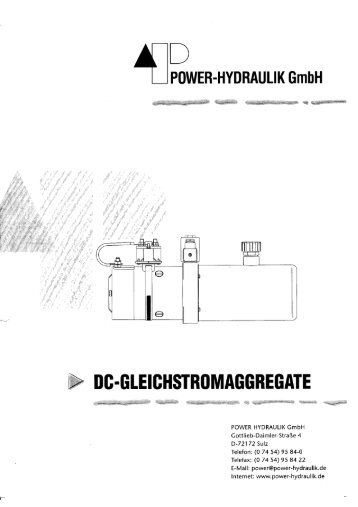 DC-Aggregate.pdf-Datenblätter, ca. 200kb - Power-Hydraulik