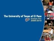 UTEP Strategic Plan - University of Texas at El Paso