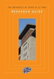 research guide - UTEP Magazine - University of Texas at El Paso