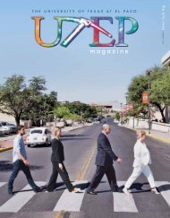UTEP Magazine - University of Texas at El Paso