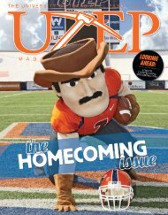 UTEP Magazine Fall 2011 i - University of Texas at El Paso