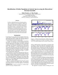 Identification of Stellar Population in Galactic Spectra using the ...