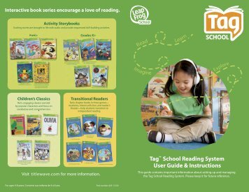 Tag™ School Reading System User Guide & Instructions