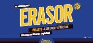 Erasor Pellets Label - Pest Control Management