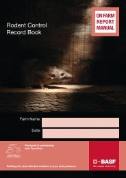 Rodent Baiting Record Book. - Pest Control Management - BASF