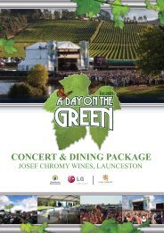 CONCERT & DINING PACKAGE - Ticketmaster