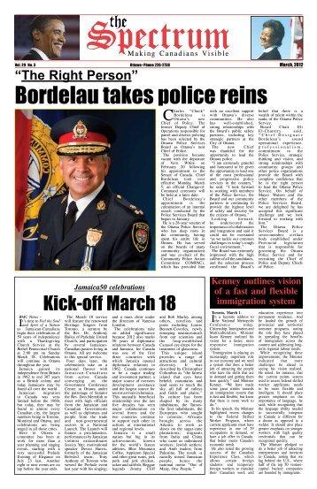 Bordelau takes police reins - Black Ottawa 411