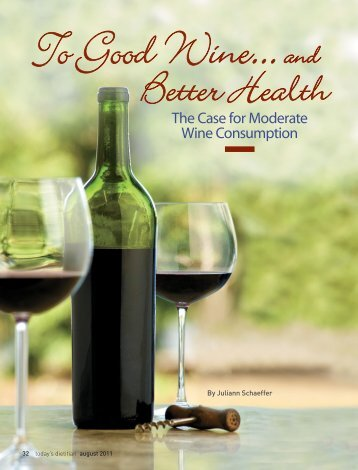 The Case for Moderate Wine Consumption - Dr. Janet Brill