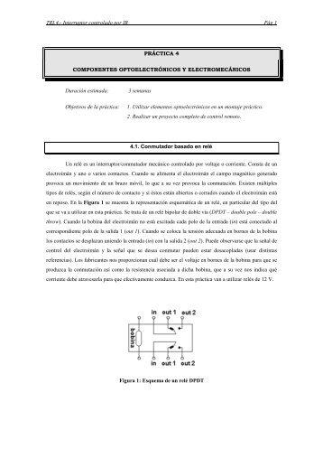 TRI.4.- Interruptor controlado por IR Pág 1 PRÁCTICA 4 ...