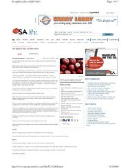 Page 1 of 3 An apple a day couldn't hurt 8/3/2009 http://www ...