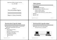 Nivel de enlace lógico Índice general Servicios de la capa de ...