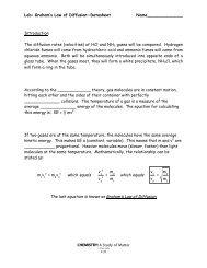 Graham's Law of Diffusion Lab