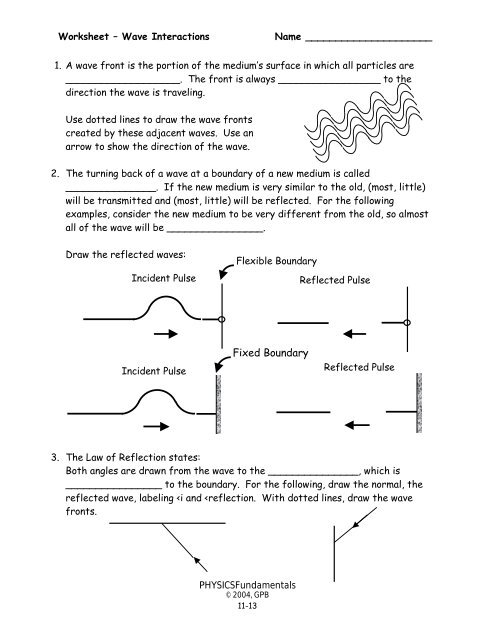 gpb note guide answers waves