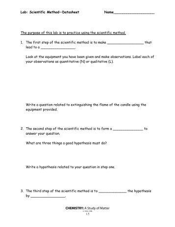 third step in the scientific method