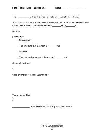 physicsfundamentals magazines rh yumpu com note taking guide program 1101 answer key note taking guide episode 1101 answer sheet
