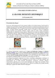 Appel à communication - BANDE DESSINEE_Pau 2011.pdf - APLAES