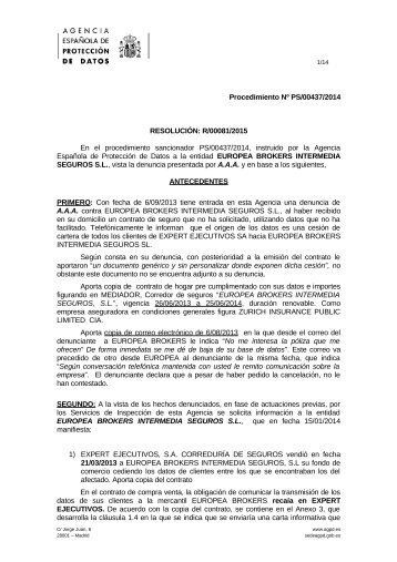 PS-00437-2014_Resolucion-de-fecha-21-01-2015_Art-ii-culo-6.1-LOPD
